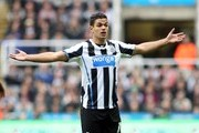 Hatem Ben Arfa of Newcastle United reacts during the Barclays Premier League game between Newcastle United and Liverpool at St James' Park on October 19, 2013 in Newcastle upon Tyne, England.