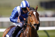 Paul Hanagan riding Jadaayil win The newmarket350.co.uk Maiden Fillies' Stakes at Newmarket racecourse on April 14, 2016 in Newmarket, England.