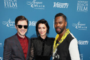 (L-R) Topher Grace, Mary Elizabeth Winstead and Colman Domingo attend the Newport Beach Film Festival Fall Honors and Variety's 10 Actors To Watch at The Resort at Pelican Hill on November 11, 2018 in Newport Beach, California.