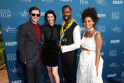 (L-R) Topher Grace, Mary Elizabeth Winstead, Colman Domingo and Zazie Beetz attend the Newport Beach Film Festival Fall Honors and Variety's 10 Actors To Watch at The Resort at Pelican Hill on November 11, 2018 in Newport Beach, California.