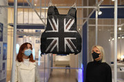 "Stormzy's Stab Proof Vest, by Banksy, on display during the ""Beazley Designs Of The Year 2020"" photocall at Design Museum on October 20, 2020 in London, England."