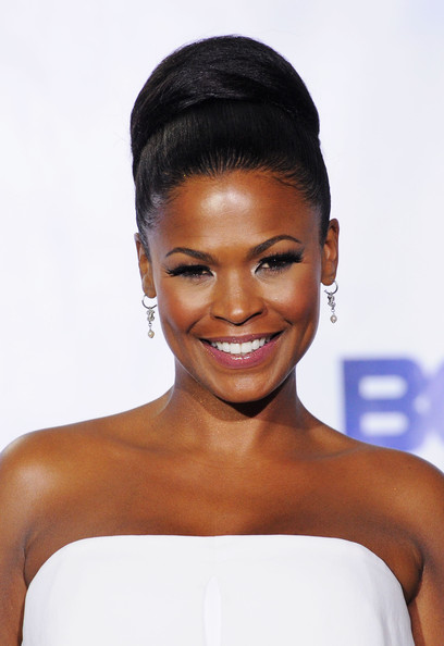 Nia Long Actress Nia Long poses in the press room at the BET Awards ...