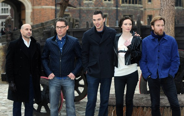 Jack The Giant Slayer - Photocall [jack the giant slayer,social group,people,event,team,tourism,white-collar worker,jeans,stanley tucci,ewan mcgregor,eleanor tomlinson,nicholas hoult,bryan singer,photocall,l-r,hampton court palace,england]