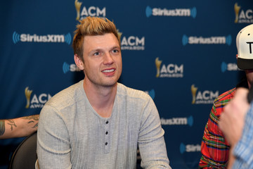 Nick Carter SiriusXM's the Highway Channel Broadcasts Backstage Leading Up to the Academy of Country Music Awards at the T-Mobile Arena
