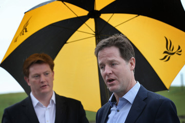 Nick Clegg Danny Alexander Liberal Democrats Campaign In North West