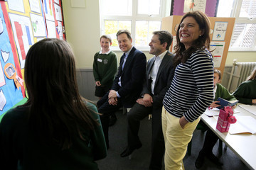 Nick Clegg Miriam Gonzalez Durantez Nick Clegg Visits a West Country School With His Wife