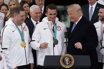Nick Goepper President Trump Welcomes U.S. Olympic Athletes To The White House
