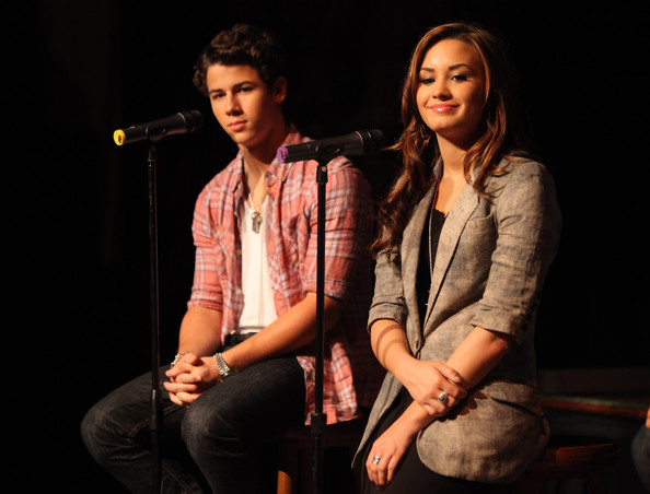 Nick Jonas and Demi Lovato - Jonas Brothers Attend Press Conference