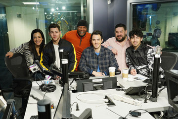 Nick Jonas Jonas Brothers Visit The SiriusXM Studios In New York City