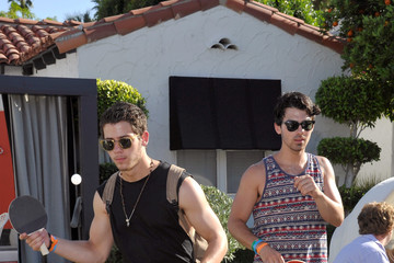Nick Jonas Celebs at the GUESS Hotel Pool Party