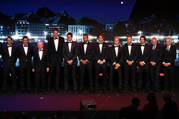 Laver Cup 2019 - Preview Day 4 [photo,event,choir,team,musical ensemble,uniform,performance,night,formal wear,musician,crew,rod laver,players,crowd,stage,rest,europe,geneva,team,laver cup]