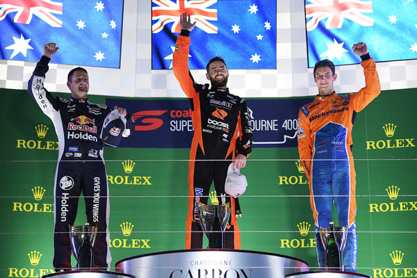 Supercars Australian Grand Prix [team,technology,sports uniform,jersey,podium,electronic device,stage equipment,championship,sports,recreation,supercars,jamie whincup,driver,place,australian grand prix,l-r,racing,holden commodore zb,holden racing team,red bull]