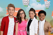 Actors Thomas Kuc, Madisyn Shipman, Cree Cicchino and Benjamin Flores Jr. attend Nickelodeon's 2016 Kids' Choice Awards at The Forum on March 12, 2016 in Inglewood, California.