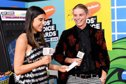 (L-R) Daniella Monet and Alex Hayes attend Nickelodeon's 2018 Kids' Choice Awards at The Forum on March 24, 2018 in Inglewood, California.