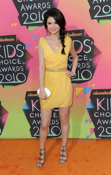 Actress Selena Gomez arrives at Nickelodeon's 23rd Annual Kids' Choice Awards held at UCLA's Pauley Pavilion on March 27, 2010 in Los Angeles, California.