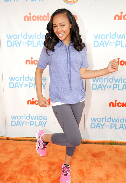 Cymphonique Miller celebrates Nickelodeon's largest ever Worldwide Day of Play at the Ellipse on September 24, 2011 in Washington, DC.