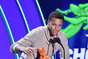NBA player Stephen Curry accepts the Clutch Player of the Year award onstage at the Nickelodeon Kids' Choice Sports Awards 2015 at UCLA's Pauley Pavilion on July 16, 2015 in Westwood, California.