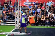 NFL player LaDainian Tomlinson at the taping of Nickelodeon's Superstar Slime Showdown at Super Bowl in Houston, Texas, premiering Sunday, Feb. 5, at 12pm (ET/PT).