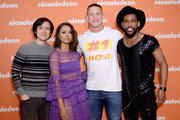 (L-R) Josh Brener, Kat Graham, John Cena and Brandon Mychal Smith attend the Nickelodeon Upfront 2018 at Palace Theatre on March 6, 2018 in New York City.
