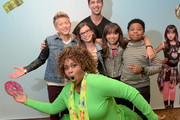 """(Top) Viner superstar Josh Peck, from the cast of Nickelodeon's Game Shakers, (middle row L-R) Thomas Kuc, Madisyn Shipman, Cree Cicchino, and Benjamin """"Lil P-Nut"""" Flores Jr., and (bottom) YouTube sensation GloZell at VidCon on July 25, 2015 in Anaheim, California. New live-action comedy series set to premiere Saturday, Sept. 12 at 8:30pm"""