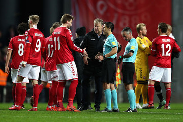 Nicklas Bendtner Denmark v Republic of Ireland - FIFA 2018 World Cup Qualifier Play-Off: First Leg