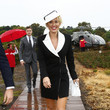 Nicky Whelan Celebrities Arrive With Uber At AAMI Victoria Derby Day