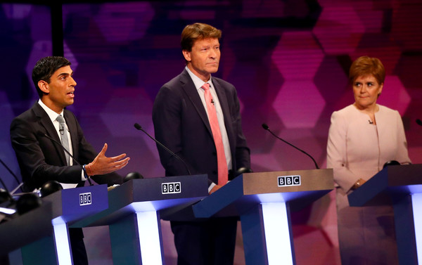 BBC Election Debate Takes Place In Cardiff [event,speech,spokesperson,public speaking,debate,convention,performance,job,orator,richard tice,nicola sturgeon,chief secretary,conservatives,leader,election debate takes place in cardiff,bbc,treasury,brexit party,debate]