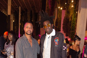 Cuba Gooding Jr and Guest attend Nicole & DJ Khaled's Birthday Celebration With Haute Living And Roger Dubuis at Perez Art Museum Miami on December 9, 2018 in Miami, Florida.