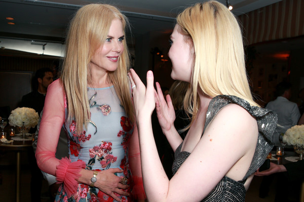Premiere Of Focus Features' 'The Beguiled' - After Party [the beguiled,blond,lady,event,fun,fashion,interaction,party,long hair,dress,nightclub,actors,elle fanning,nicole kidman,focus features,party,l,premiere,party,premiere]