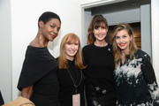 (L-R) Roshumba Williams, Nicole Miller, Carol Alt, and Debbie Dickinson pose backstage for the Nicole Miller fashion show during New York Fashion Week: The Shows at Gallery II at Spring Studios on February 7, 2019 in New York City.