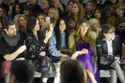 (L-R) Veronica Webb, Helen Lee Schifter and Kelly Killoren Bensimon attend the Nicole Miller watch the show from the front row during New York Fashion Week: The Shows at Gallery II at Spring Studios on February 7, 2019 in New York City.