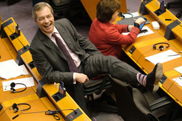 Nigel Farage European Best Pictures Of The Day - January 29