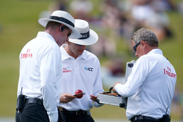 Nigel Llong New Zealand v Sri Lanka - 2nd Test: Day 3