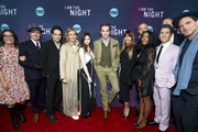 """(L-R) EVP, Original Programming TNT Sarah Aubrey, Jefferson Mays, Yul Vazquez, Connie Nielsen, India Eisley, Chris Pine, Patty Jenkins, Sam Sheridan, Golden Brooks, Leland Orser, Jay Paulson, and  Dylan Smith attend the """"I Am The Night"""" Los Angeles Premiere on January 24, 2019 in Los Angeles, California. 484213."""