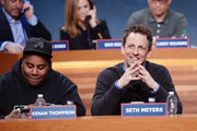 Kenan Thompson and Seth Meyers attend The Night Of Too Many Start Live Telethon on March 8, 2015 in New York City.