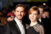Dan Stevens and wife Susie Stevens attend the UK Premiere of 'Night At The Museum: Secret Of The Tomb' at Empire Leicester Square on December 15, 2014 in London, England.