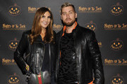 Heather McDonald and Lance Bass attend the Nights of the Jack launch at King Gillette Ranch on October 10, 2018 in Calabasas, California.