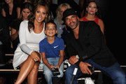 TV personalities Melissa Gorga, Joe Gorga and son Gino Gorga attend Nike/Levi's Kids Rock! fashion show during Spring 2016 New York Fashion Week at the The Dock, Skylight at Moynihan Station on September 10, 2015 in New York City.