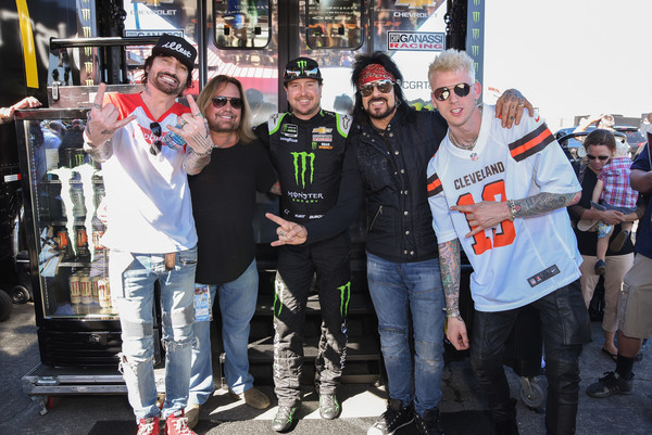 Celebrities At The Monster Energy NASCAR Cup Series Race At Auto Club Speedway