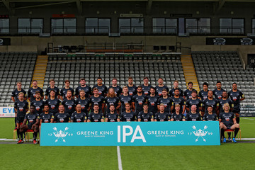 Nili Latu Newcastle Falcons Photocall