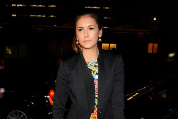 Nina Dobrev Versus Versace - Arrivals - Mercedes-Benz Fashion Week Spring 2015