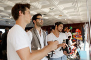 (L-R) Actors Dylan O'Brien, Tyler Hoechlin and Tyler Posey attend the Nintendo Lounge on the TV Guide Magazine Yacht during Comic-Con International 2014 #TVGMYacht on July 24, 2014 in San Diego, California.