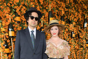 Geoffrey Arend (L) and Christina Hendricks attend the Ninth-Annual Veuve Clicquot Polo Classic Los Angeles at Will Rogers State Historic Park on October 6, 2018 in Pacific Palisades, California.