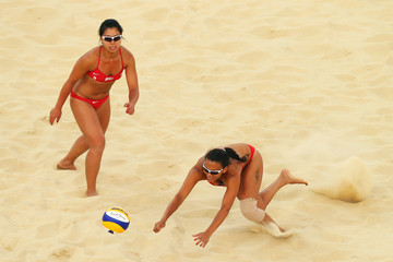 Nioun Chin Elodie Li Yuk Lo Olympics Day 1 - Beach Volleyball