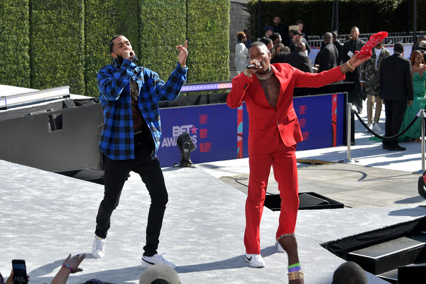 2018 BET Awards Pre-Show - Live! Red! Ready! Sponsored By Nissan [performance,recreation,games,tree,tourism,vacation,performing arts,performance art,competition,dance,nipsey hussle,microsoft theater,los angeles,california,nissan,l,yg,pre-show,bet awards]