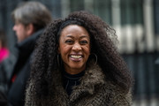 Beverley Knight attends a Children's Christmas Party at 11 Downing Street on December 10, 2018 in London, England.