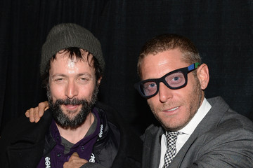 """Noaz Deshe Lapo Elkann, Marco And Mauro La Villa Host Cocktail Party And Dinner For """"The Art Of Black And White Stripes"""" Curated By Lapo Elkann At Rock & Reilly's - 2014 Park City"""