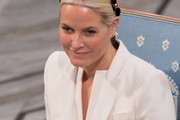 Princess Mette-Marit of Norway attends the Nobel Peace Prize ceremony at Oslo City Town Hall on December 10, 2015 in Oslo, Norway.