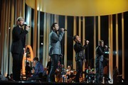 (L-R) Kian Egan, Mark Feehily, Shane Filan and Nicky Byrne of Westlife perform during the Nobel Peace Prize Concert Rehearsals at Oslo Spektrum on December 10, 2009 in Oslo, Norway.