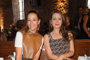 Alexandra Neldel and Alice Dwyer attend the Nobi Talai fashion show during the Berlin Fashion Week Spring/Summer 2020 at Parochialkirche on July 04, 2019 in Berlin, Germany.